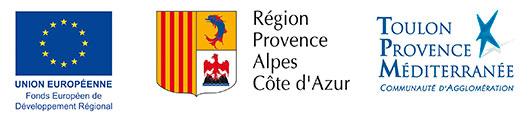 Logos FEDER Région TPM