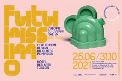 ETTORE SOTTSASS, THÉIÈRE BASILICO, 1972. Bois laqué/17cm(h)x2cm (ø) Collection Centre Pompidou, Paris. Musée national d'art moderne - Centre de création industrielle. ©Centre Pompidou, MNAM-CCI/Georges Meguerditchian/Dist.RMN© Adagp, Paris 2021