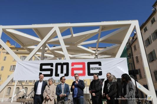 L'équipe du SMAC Festival lors de la conférence de presse le 17 mars