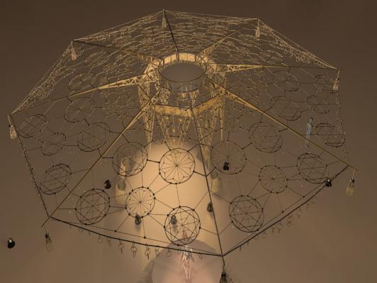 La structure attrape rêves © Thierry Pierras