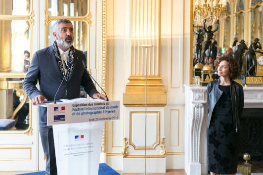 Jean-Pierre Blanc et la ministre Audrey Azouley ©Abdelwaheb Didi