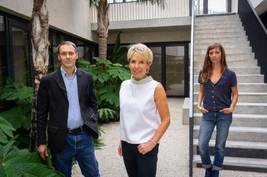 Les architectes des Beaux-Arts Corinne Vezzoni et Marie Lafond, et Jean-Marc Avrilla directeur de l'ESADTPM