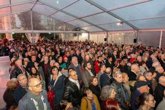 Inauguration Chalucet : malgré la pluie, 5000 personnes étaient présentes pour l'inauguration vendredi soir