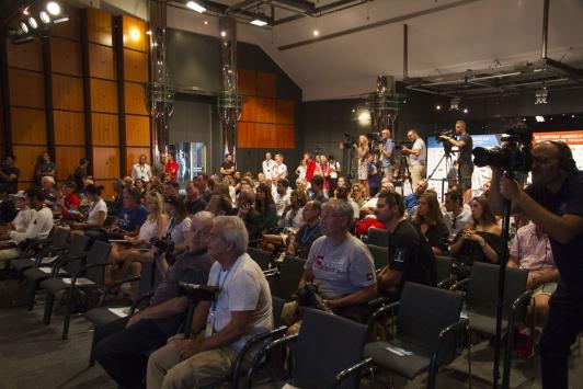 Conférence de presse: plus de 300 accréditations ont été délivrées pour couvrir l'évènement