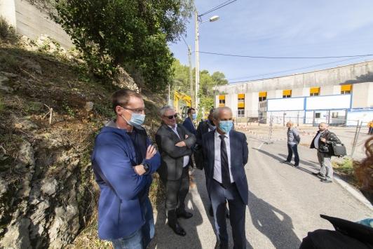 Travaux du barrage de Dardennes au Revest-les-Eaux