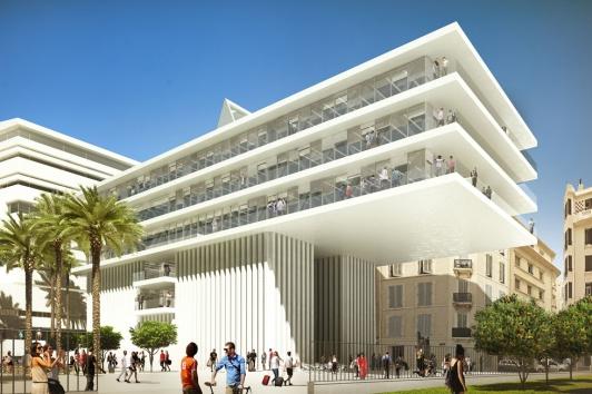 Les 4ème et 5ème étages du bâtiment vont accuellir Camondo Méditerranée (c)Golem