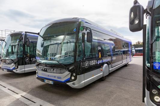 Bus GNV - Dépôt réseau Mistral site de Brégaillon