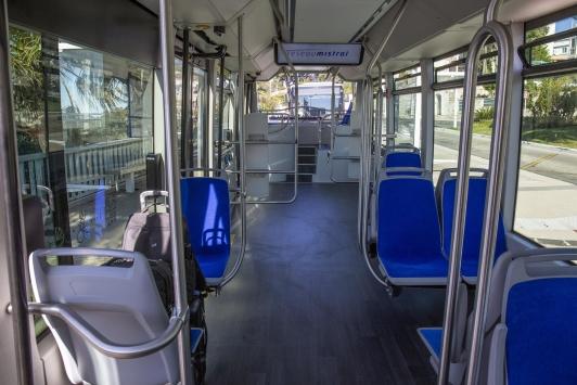 Bus électrique Aptis de Alstom (intérieur)