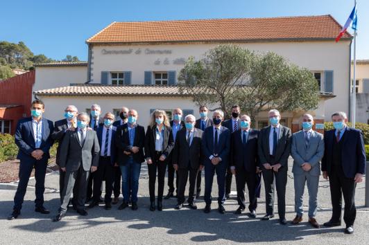 Les maires et vice-présidents de TPM et de la CCVG ©Laurent Perrier