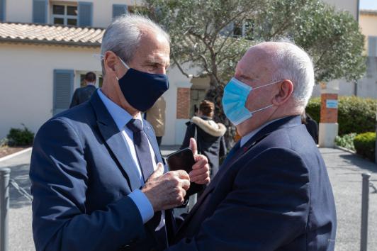 Hubert Falco, président de TPM et André Garron, président de la CCVG ©Laurent Perrier