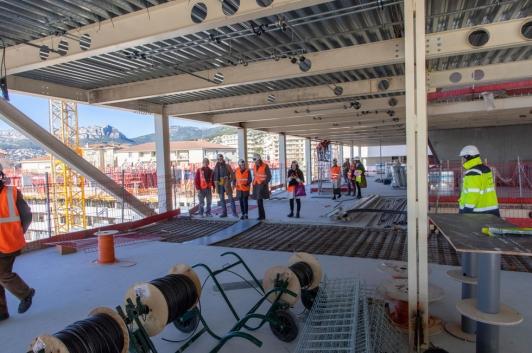 L'équipe de Camondo a visité le chantier Chalucet
