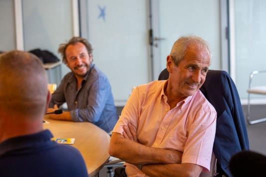 François Champsaur, président du jury et Hubert Falco, président de TPM
