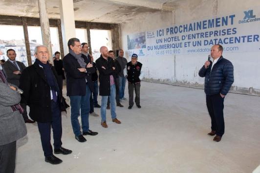 Visite de chantier Datacenter à Toulon