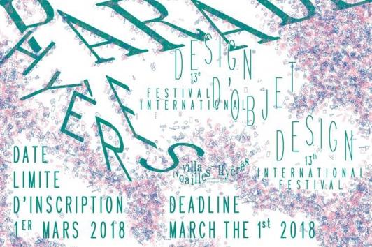 appel à candidature Design parade Hyères 2018