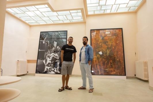 Stéphane Boudin Lestienne et Alexandre Marre, historiens de l'exposition permanente sur les Noailles