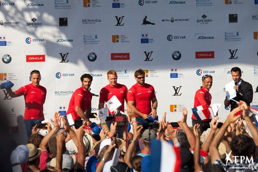 Remise des prix de la Louis Vuitton America's Cup World Series Toulon
