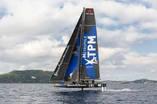 Entrainement du TPM Sailing Team dans la rade à J-2