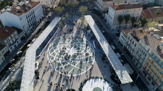 La rosace de la place Clemenceau à Hyères (c)Ville d'Hyères
