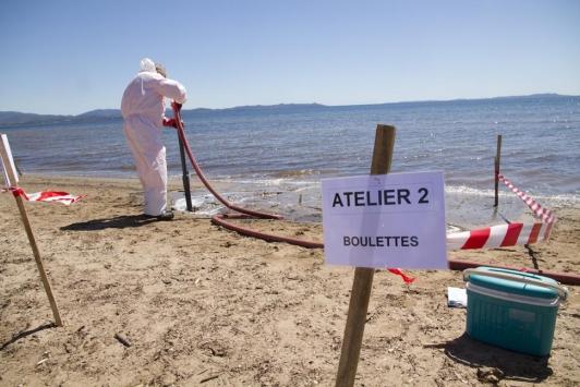 Infrapolmar, exercice de lutte contre la pollution du littoral