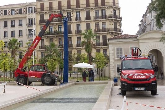 Installation de La Fontaine Italique le 22 septembre 2020