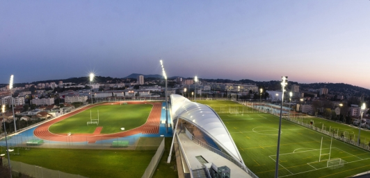 Complexe sportif Léo Lagrange - vue nocturne