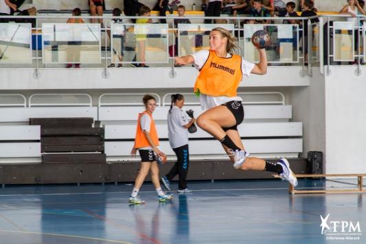 Entraînement des handballeuses