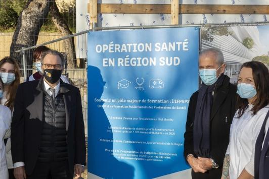 Renaud Muselier, président de la Région SUD - visite du chantier de IFPVPS - îlot Montety