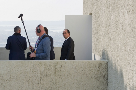 Visite de François Hollande villa Noailles