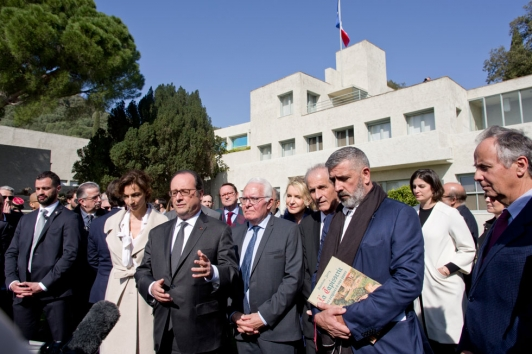 Annonce François Hollande labellisation villa Noailles