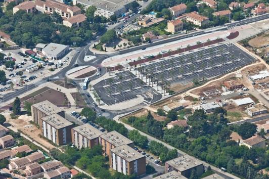 Portes d'Ollioules et de Toulon, vue aérienne