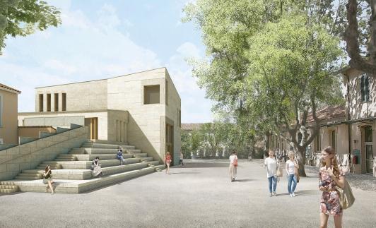 Conservatoire TPM site du Pradet - Perspective du projet © STUDIO 1984 architecture - Boris Bouchet architectes