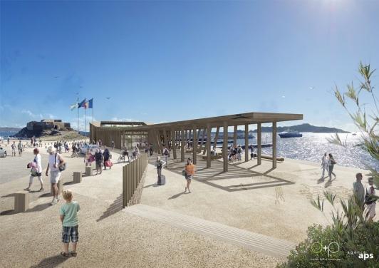Perspective de la future Gare maritime-Capitainerie de la Tour Fondue