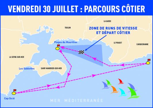 Plan Pro sailing tour Toulon - vendredi 30 juillet