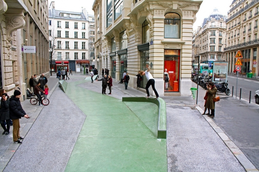 Skatepark, rue Cladel, Paris © Constructo 2012