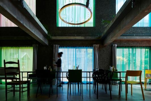 Tato architects – Yo shimada the blend-inn, Osaka, Japon, 2016 le restaurant © Hiroki Kawata