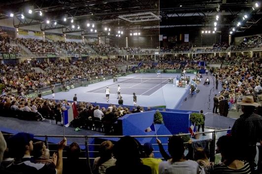 Tennis coupe Davis Palais des sport ©Olivier Pastor