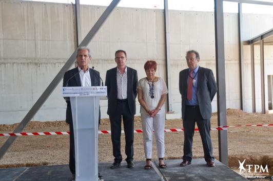 Hubert Falco, Jean-Louis Masson, Christiane Hummel et Michel Hibon