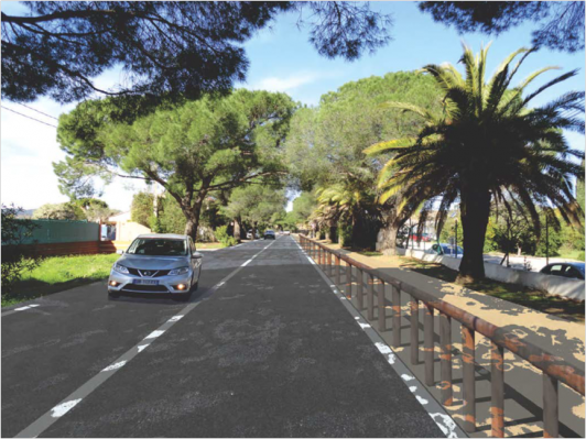 Travaux de requalification de l'avenue Alfred Decugis à Hyères