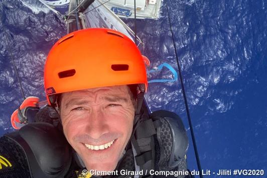 Ascension en haut du mât de 30m - Clément Giraud