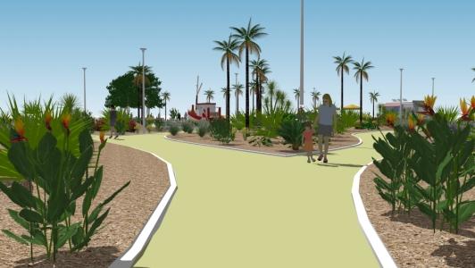 Le futur jardin paysager