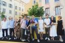 Le jury DP Toulon, présidé par pierre Yovanovitch, remettant le Grand Prix à Antoine Chauvin