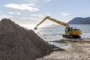 Travaux de retroussement de sable - Les Sablettes à la Seyne-sur-Mer
