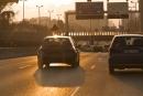 Voiture en circulation autoroute de Toulon