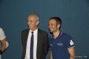 Hubert Falco, Président de TPM, et Franck Cammas, skipper Groupama Team France