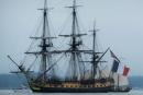 L'Hermione à Yorktown - crédit photo Amiral Gachot