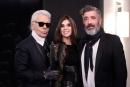 Karl Lagerfeld, Carine Roitfeld et Jean-Pierre Blanc ®Anne Combaz