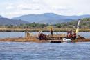 travaux îlot de nidification, rabotage de l'îlot, le 22 septembre 2021