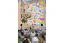 Théâtre Liberté : fresque réalisée Place de l'Équerre par les artistes espagnols, Zosen et Mina Hamada