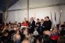 Hubert Falco, entouré de l'architecte du quartier Corinne Vezzoni, Jean-Louis Borloo, venu en ami, le diacre Gilles Rebêche, le Préfet du Var Jean-Luc Videlaine, le président du Département Marc Giraud, et le président de la CCIV Jacques Bianchi