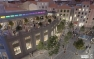Perspective du projet : vue aérienne des Halles
